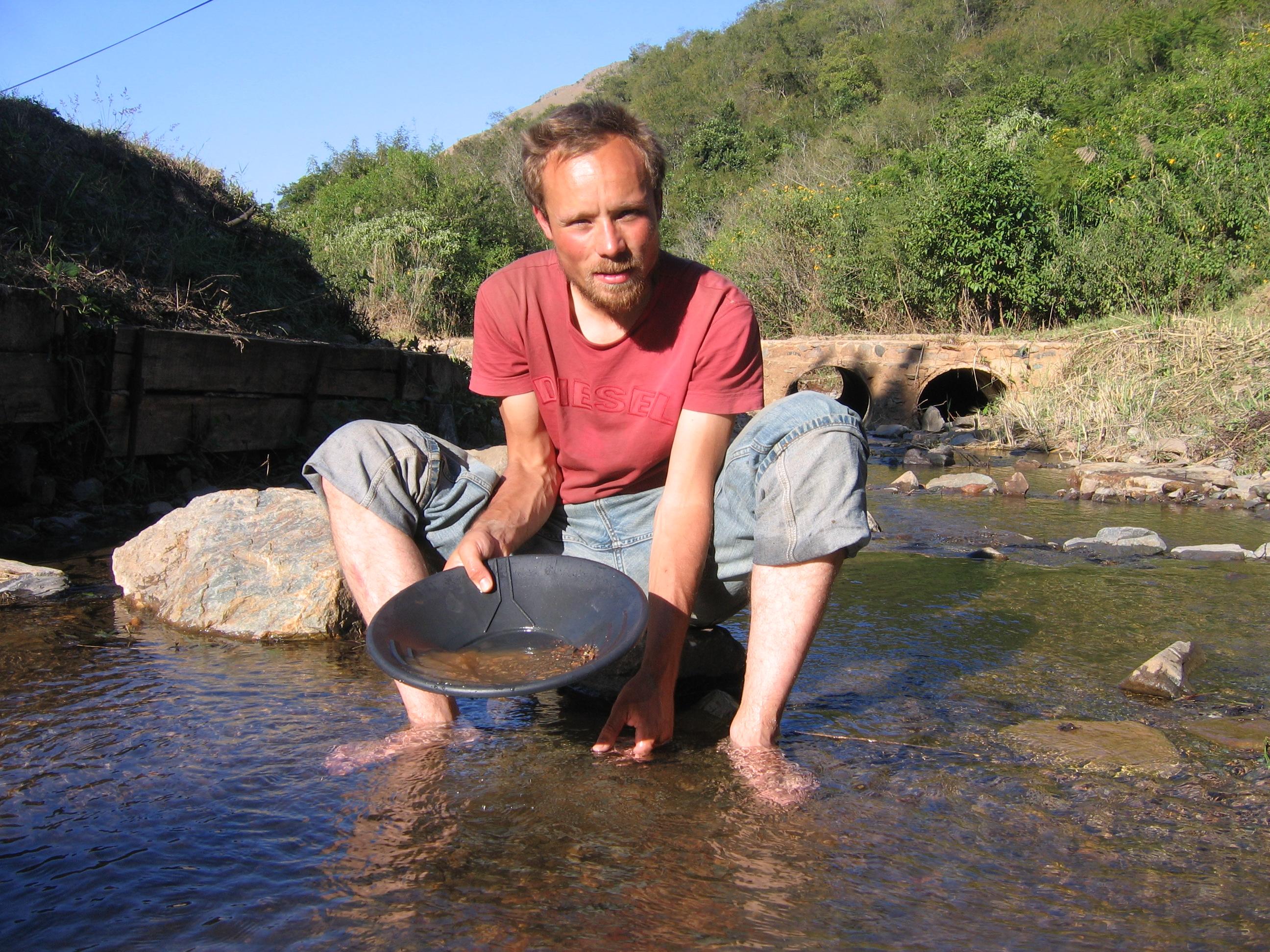 Goldwaschen in Südafrika