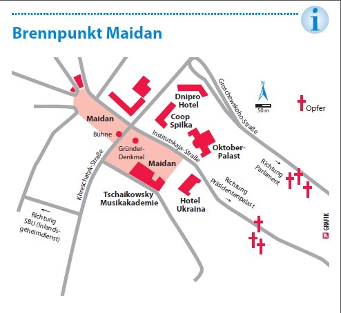 Maidan-Karte