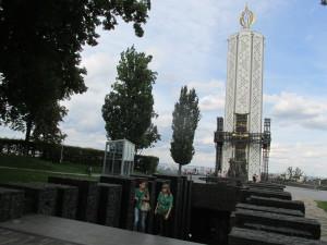 """Das """"Denkmal der Erinnerung an die Hungeropfer der Ukraine"""" im historischen Zentrum von Kiew"""