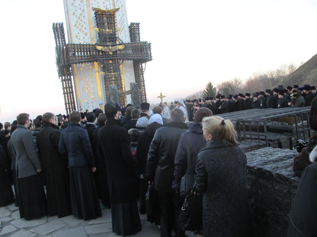 November 2014. Geistliche des Moskauer Patriarchats gedenken der Holodomor-Opfer in Kiew